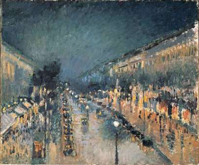 Camille Pissarro -The Boulevard Monmartre at Night